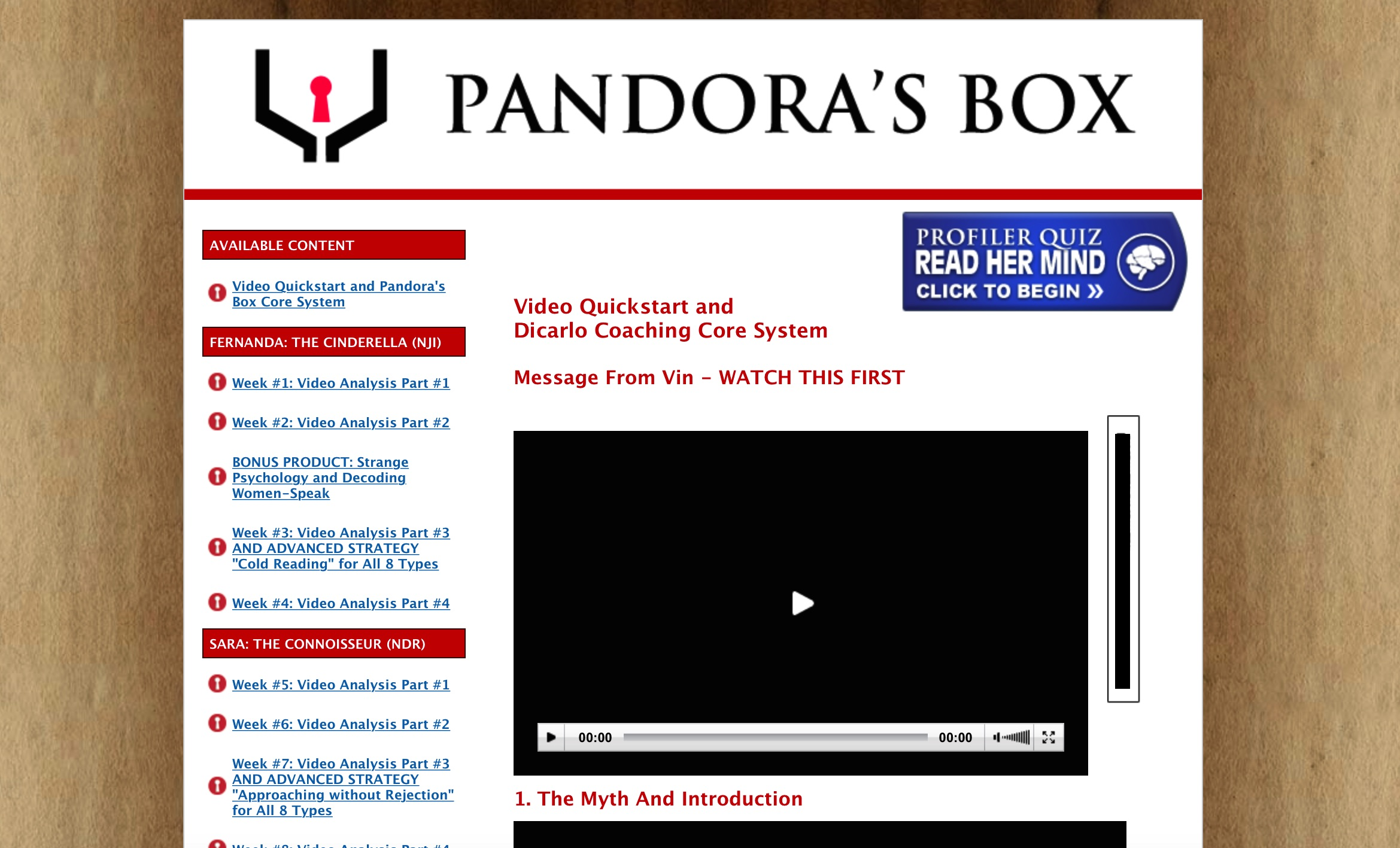 Pandora s box sex questions
